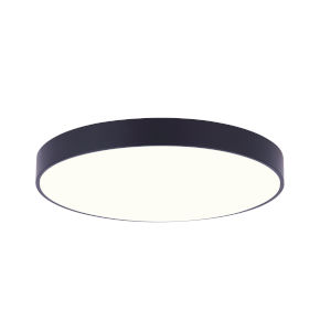 Low Profile Black Seven-Inch LED Flush Mount