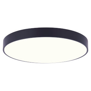Low Profile Black Nine-Inch LED Flush Mount