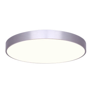 Low Profile Brushed Nickel Nine-Inch LED Flush Mount