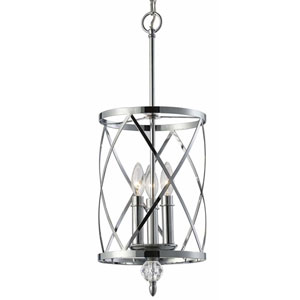 Vanessa Chrome Three-Light Chandelier