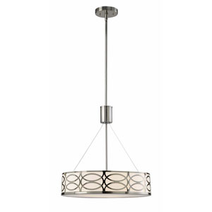 Drake Brushed Nickel Three-Light Chandelier