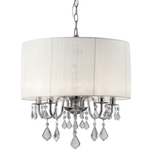 Sarah Chrome Five-Light Chandelier