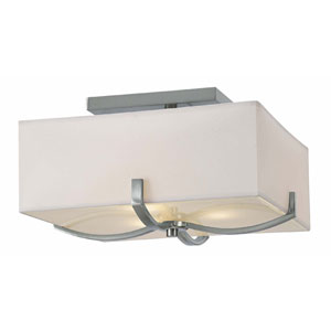 Palmer Brushed Nickel Three-Light Flush Mount