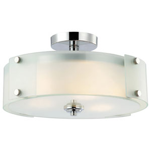 Ryker Chrome Flush Mount Light