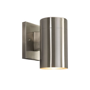 Night Sky Down Brushed Nickel 7.6-Inch One Light Outdoor Wall Light Glass