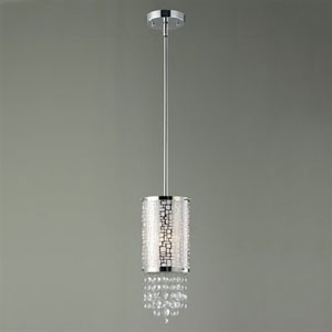 Benito Chrome One-Light Mini Pendant