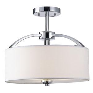 Milano Chrome Semi-Flush Light
