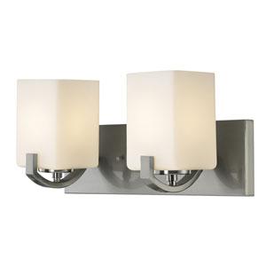 Palmer Brushed Nickel Two-Light Vanity Light