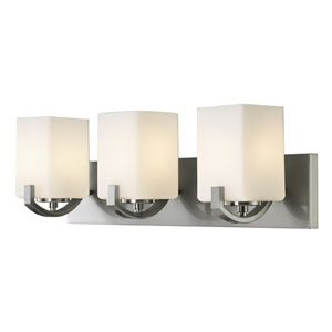 Palmer Brushed Nickel Three-Light Vanity Light