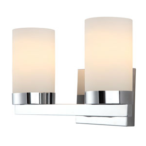 Milo Chrome Two-Light Vanity Light