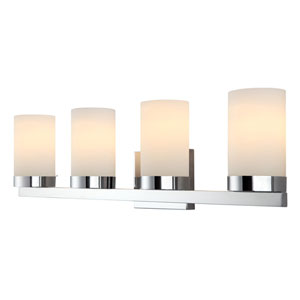Milo Chrome Four-Light Vanity Light