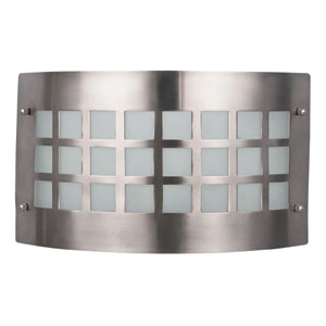 Franklin Brushed Pewter One Light Ceiling and Wall Sconce with White Frosted Glass