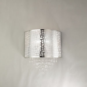 Benito Chrome One Light Ceiling And Wall Sconce Glass