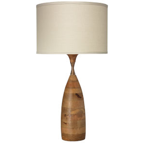 Amphora Natural Wood One-Light Table Lamp