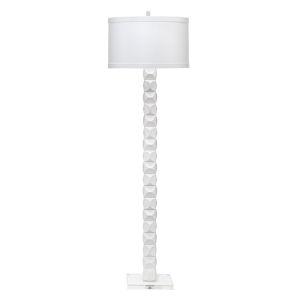 Astor Textured Matte White One-Light Floor Lamp