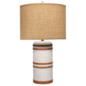 Barrel Vintage Canvas One-Light Table Lamp