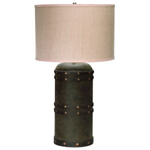 Barrel Vintage Leather One-Light Table Lamp