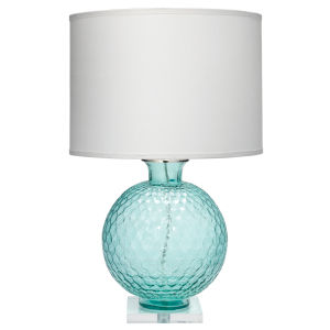 Clark Aqua One-Light Table Lamp