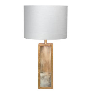 Cloudscape Taupe and Slate Lacquer Antique Gold One-Light Table Lamp