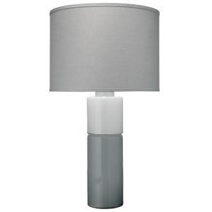 Copenhagen Gray and White One-Light Table Lamp