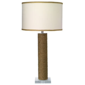 Cylinder Jute One-Light Table Lamp