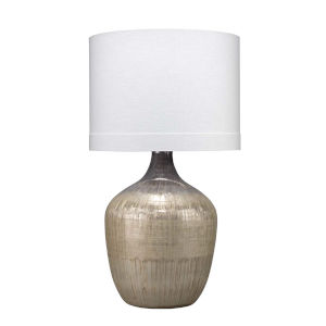 Damsel Etched Mercury Glass One-Light Table Lamp