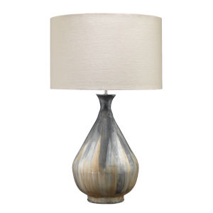 Daybreak Gray Enameled Metal One-Light Table Lamp