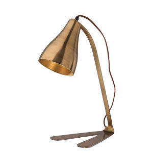 Fleetwood Antique Brass One-Light Table Lamp