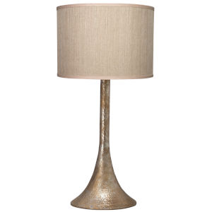 Hammered Platinum One-Light Table Lamp