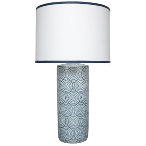 Hamptons Blue and White One-Light Table Lamp