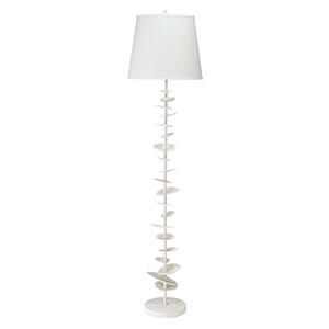 Petals White Gesso One-Light Floor Lamp