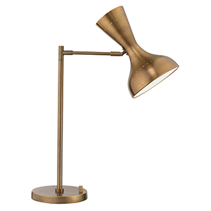 Pisa Antique Brass Two-Light Table Lamp