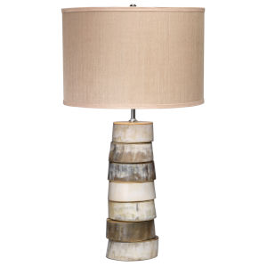 Stacked Horn One-Light Table Lamp