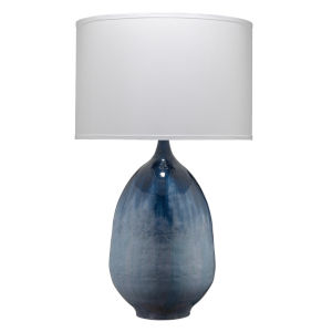 Twilight Blue Ombre Enameled Metal One-Light Table Lamp