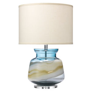 Ursula Blue Swirl Glass One-Light Table Lamp