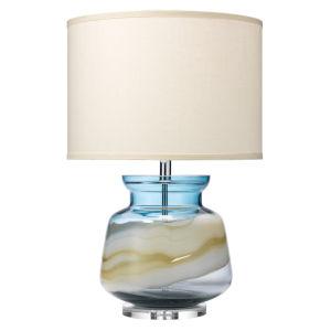 Ursula Blue Swirl Glass One-Light Table Lamp
