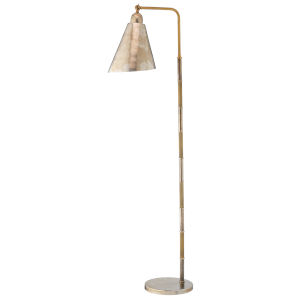 Vilhelm Antique Brass and Antique Silver One-Light Reading Lamp