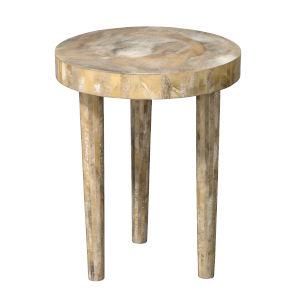 Artemis Pearl Resin 20-Inch Side Table