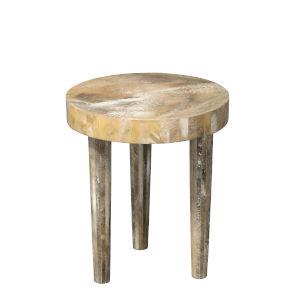 Artemis Pearl Resin 16-Inch Side Table