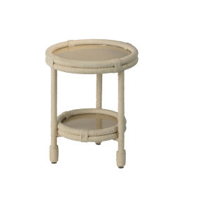 Delta White Rope Side Table