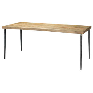 Farmhouse Natural Wood Dining Table