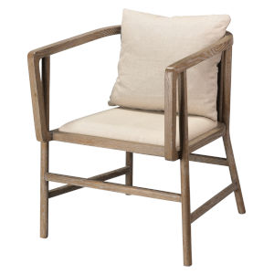 Grayson Gray Wood Arm Chair