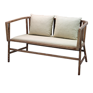 Grayson Off White Linen and Gray Washed Wood Furniture