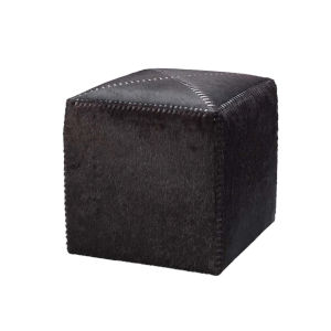 Espresso Hide with Dark Brown Stitching 16-Inch Hide and Wax Thread Ottoman