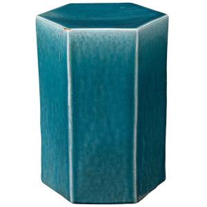 Porto Azure Ceramic 13-Inch Ceramic Side Table