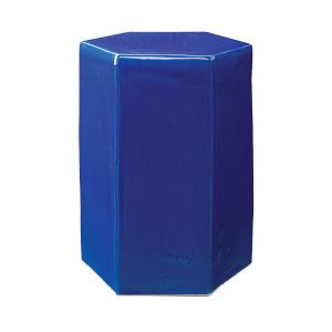 Porto Cobalt Blue 10-Inch Ceramic Side Table