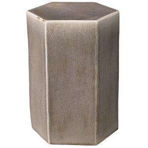 Porto Gray Ceramic 10-Inch Ceramic Side Table