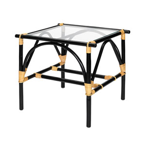 Xanadu Black and Cream Side Table