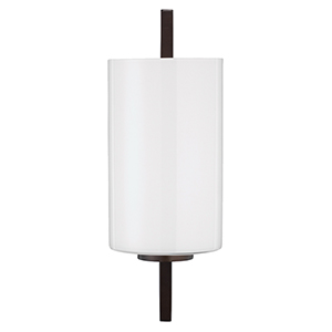 Blueprint Oil Rubbed Bronze And White Glass One-Light Wall Sconce