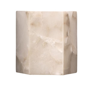 Borealis Alabaster Seven-Inch Sconce